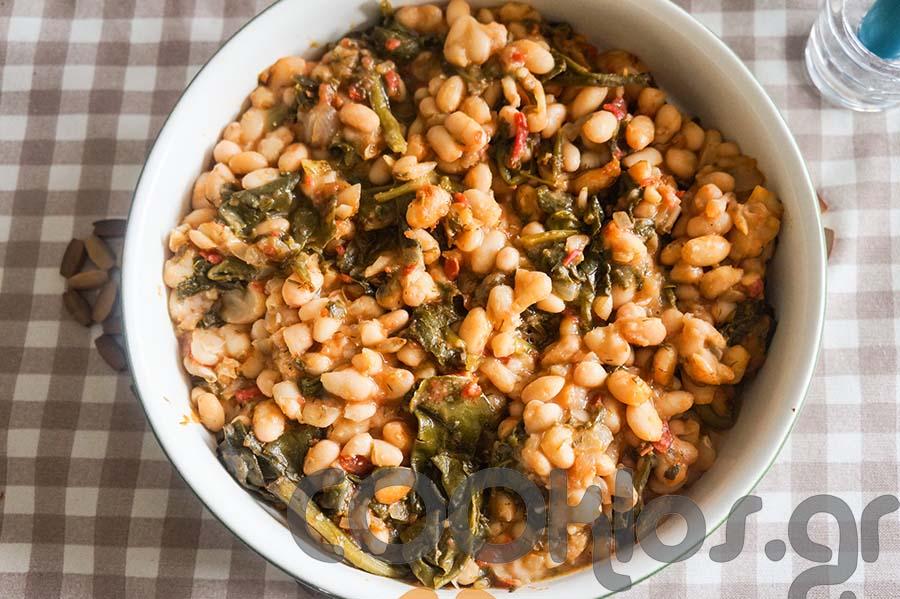 Φασόλια φούρνου με σέσκουλα