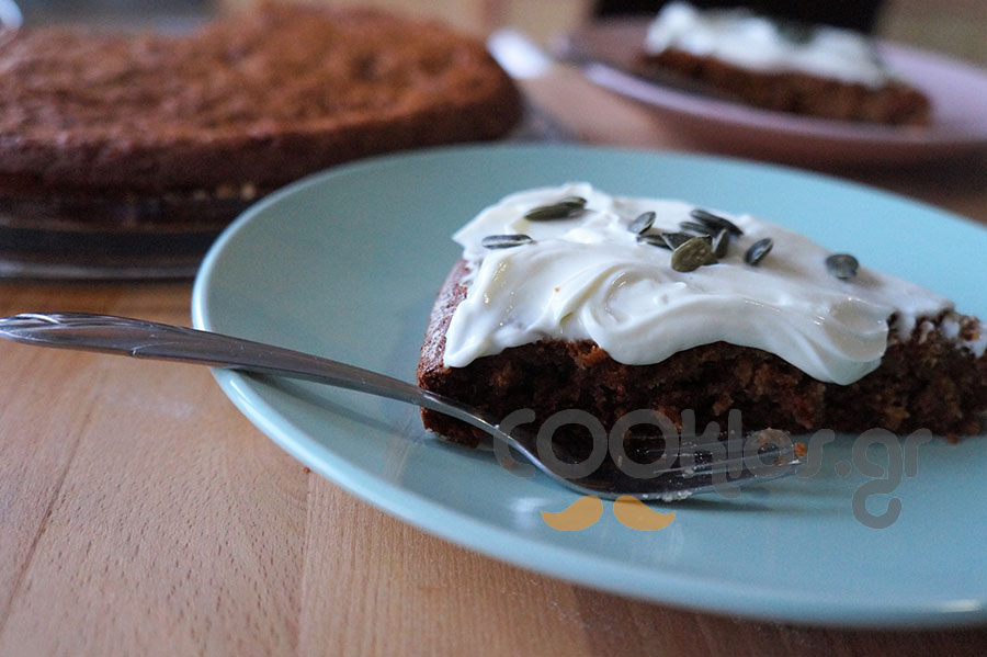Κέικ κολοκύθας χωρίς ζάχαρη