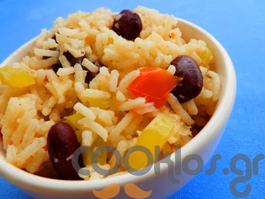 Moros y Cristianos (κουβανέζικο ρύζι με μαύρα φασόλια)