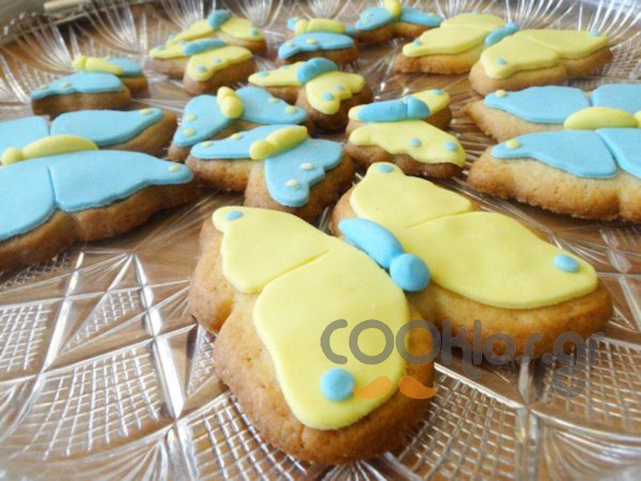 Μπισκότα βουτύρου με ζαχαρόπαστα
