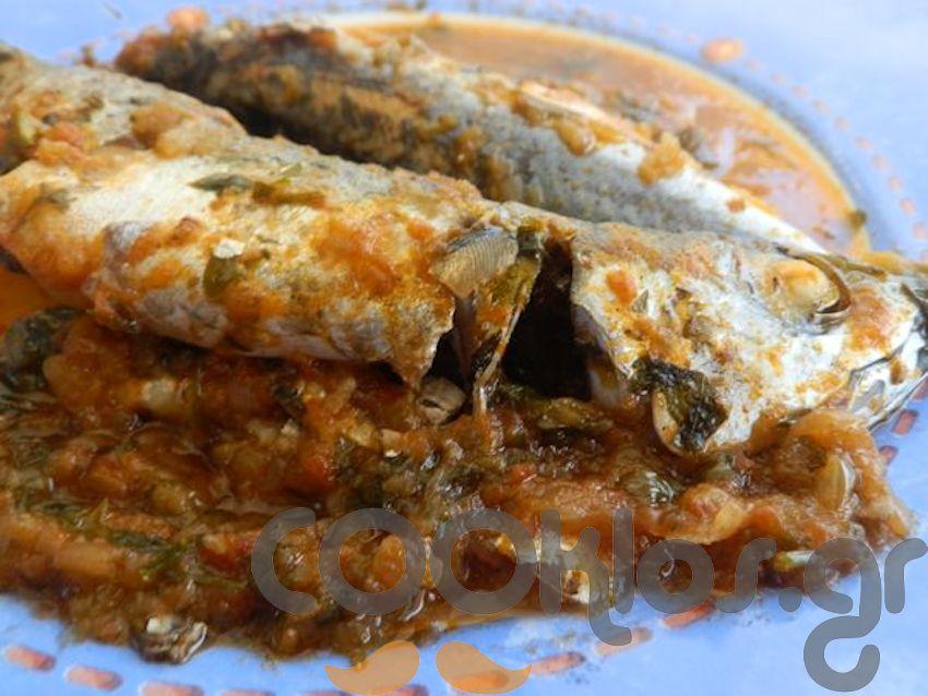 Κολιοί στον φούρνο με ντοματούλα