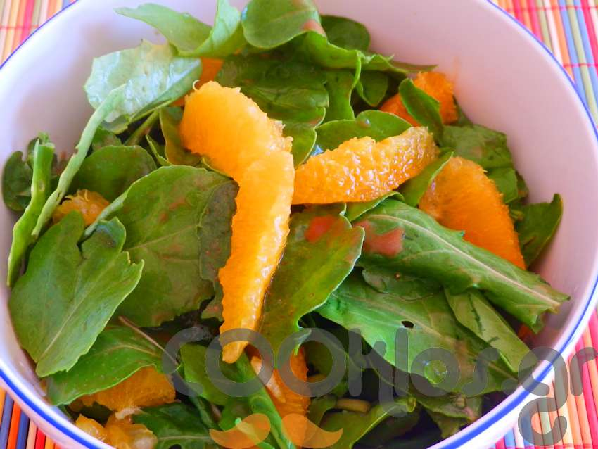 Ρόκα με βινεγκρετ πορτοκαλιού και φιλέτα πορτοκάλι