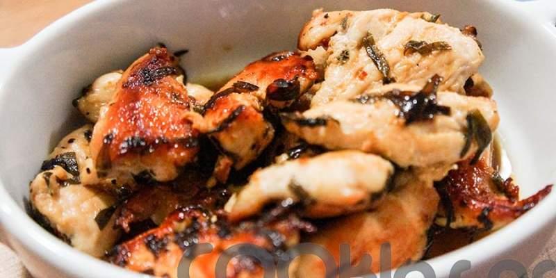 Κοτόπουλο με εστραγκόν και μούστο