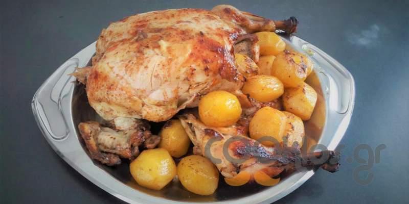 Κοτόπουλο ψητό σε μαρινάδα βαλσάμικου