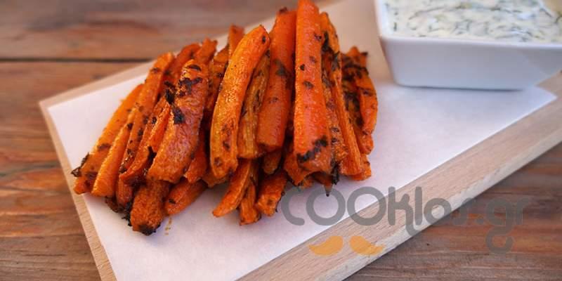 Ψητά καρότα με ντιπ γιαουρτιού