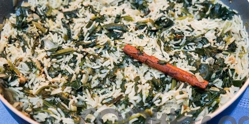 Ρύζι μπασμάτι με σπανάκι και κανέλα