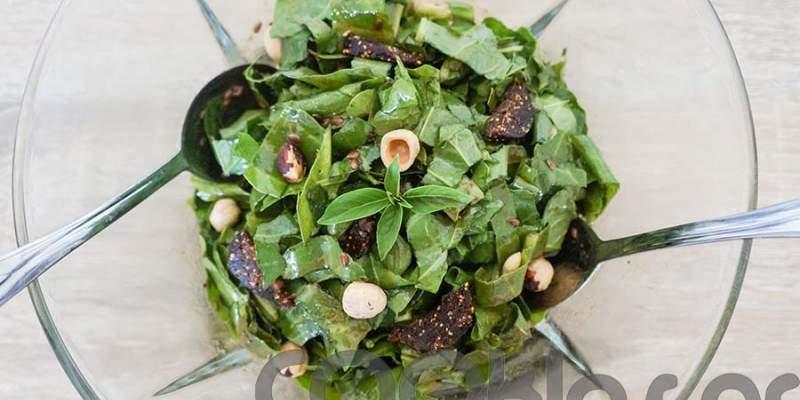 Σέσκουλα σαλάτα με συκομαΐδα και φουντούκια