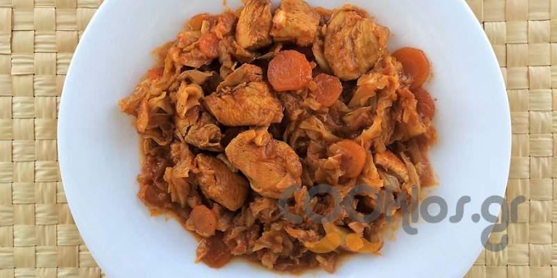 Στήθος κοτόπουλο με λάχανο