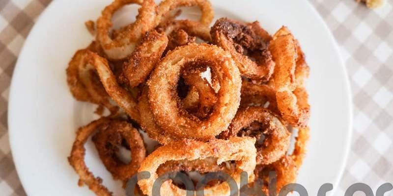 Δαχτυλίδια κρεμμυδιού τηγανητά (Onion rings)