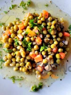 Αρακάς λεμονάτος με λαχανικά