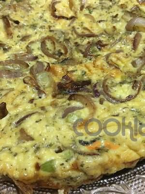 Ομελέτα με μανιτάρια και κρεμμύδι