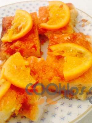Πορτοκαλόπιτα με φέτες πορτοκαλιού