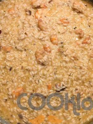Ριζότο με γαρίδες και κόκκινα κρεμμύδια