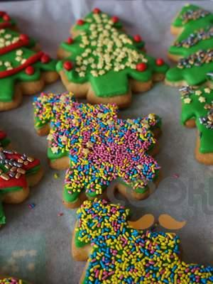 Χριστουγεννιάτικα μπισκότα με ζαχαρόπαστα