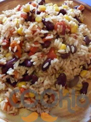 Μεξικάνικο ρύζι με κόκκινα φασόλια