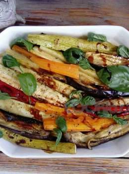 Λαχανικά στο γκριλ με βινεγκρέτ αντσούγιας