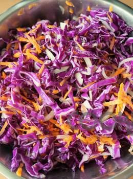 Μεξικάνικη σαλάτα με κόκκινο λάχανο