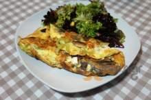 Ομελέτα με βουβαλίσιο σαλάμι