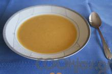 Βελουτέ σούπα πεσκανδρίτσας