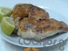Κοτόπουλο φούρνου με σκορδάκι