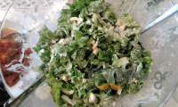 Πράσινη σαλάτα με αυγά και μουσταρδομαγιονέζα
